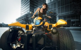 Brunette, Motorcycle Asian Bikes, Брюнетка, Bryunetka