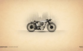 Cafe Racer, мотоцикл, 1960-х годов, Norton Cafe Racer